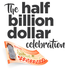 The half billion dollar celebration